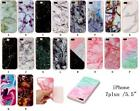 Soft TPU Crystal Marble Patterned thin Light Phone Case Cover for iPhone 7 plus