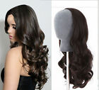 "15""-20 Women's Glueless  3/4 Half Wig 100% Human Hair Long Body Wave Half Wig"