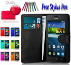 Magnetic  Wallet Flip Book PU Leather Case Cover Holder For Huawei Ascend P10 UK