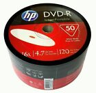 HP Blank DVD-R DVDR White Inkjet Hub Printable 16X 4.7GB 120min Recordable Disc