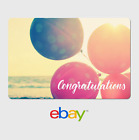 eBay Digital Gift Card - Congrats Balloons -  Email delivery