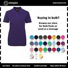 Womens Polo T Shirt Ladies Adult Plain Casual Short Sleeves Tee Plus Sizes 8-30