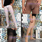 Mens 80 Denier Opaque Pouch Tights/Footless Tights 2 Versions