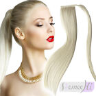 Fits Like Halo New Fashion Straight Clip Real Human Hair Ponytail Extension 100g