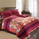 Viola Luxury SoftTouch 100%Egyptian Cotton Satin Abstract Damask Duvet Cover Set