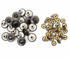 17mm Jeans Buttons Replacement Black Rhinestone Denim Jackets Studs Pins JB42