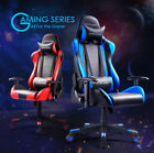 leather gaming chair - GT Racing chair Executive Gaming chair Ergonomic Leather Recliner Office desk US