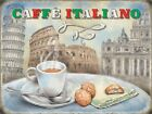 CAFE ITALIANO ITALY ROME LATTE ESPRESSO CAPPUCCINO METAL SIGN TIN PLAQUE 1192