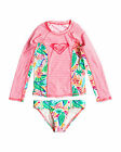 NEW ROXY™  Girls 2-7 Garden Grove Long Sleeve Rash Vest Set Girls Surf
