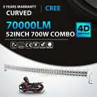 """4D 22""""/32""""/42""""/50""""/52""""/54""""inch 4"""" 18W Curved LED Work Light Bar Offroad Driving"""