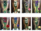 JOB LOT OF QUALITY ARTIFICIAL VELVET SILK ROSES, 24STEMS A BOX, LUXURY, 8 COLORS