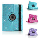 360° Swivel Rotating Bling SPARKLY Leather Case Cover for ipad 6/ipad air 2+Gift