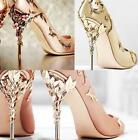 Womens Sexy Satin Pointed Toe Stilettos High Slim Heels Wedding Bridal Shoes New
