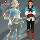 Zelda Breath of the Wild Princess Zelda Costume Cosplay Halloween