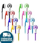 3.5mm CUFFIETTE auricolare colore Cuffia in-ear stereo per Smartphone iPod MP3 4