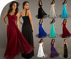 Long Chiffon Empire Formal Strap Evening Ball Gown Party Prom Bridesmaid Dress