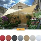 Rectangle/ Square Sun Shade Sail Deluxe UV Top Canopy Shelter Outdoor Patio Lawn