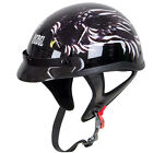Rebel R100 Glossy Flying Eagle Graphic Half Helmet