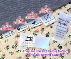 cloth name tags - Custom logo clothes name label sew in folding hanging tag garment Personalized