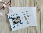 Pack 10 Personalised Baby Shower Party Invitations With Scan Picture Pink Blue