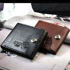 Fashion Men Leather & PU Wallet Clutch ID Cards Holder Trifold Purse Coin Pocket