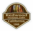 Redwood National Park Sticker Decal R1454 California You Choose Size