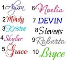PERSONALIZED VINYL NAME DECAL STICKER (UP TO 10 CHARACTERS )
