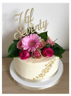 Sparkling Cake Topper PERSONALISED Various Size & Colour Wording, Number & Names