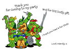 Children's Party Thank You Cards - Various pack sizes ~ Ninja Turtles