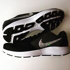 NWT Bling Women's Nike Revolution 3 Shoes w/ Swarovski Crystal Swooshes - Black