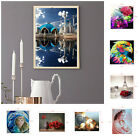 5D Pictures Art Flowers Scenery Embroidery Diamond DIY Painting Craft Home Decor