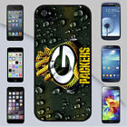 Green Bay Packers NFL Football Raindrops Background  iPhone or Galaxy Case Cover
