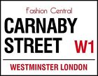 CARNABY STREET LONDON ENGLAND SIGN 60's FASHION METAL PLAQUE RETRO NOSTALGIC 555