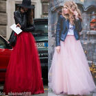 Plus Size Long Women's Tulle Skirt Wedding Bridesmaids Skirts Party Prom Dress