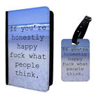 Sayings F*ck What People Think Luggage Tag & Passport Holder - A1177