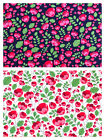 Cute Floral Flowers Cotton Fabric T-Shirts Skirts Summer Dress Bunting Quilting