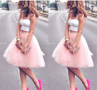 55cm Long Tulle Skirt Women Summer Style Ball Gown Solid Fashion TUTU Skirts