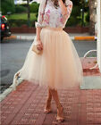 S-5XL 65cm Length Fashion Women Adult Tulle Skirts Summer Party Casual Skirts
