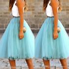 S-5XL Blue Tulle Skirt Women Summer Style Ball Gown Solid Fashion TUTU Skirts