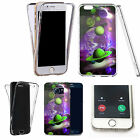 Shockproof 360° Silicone Clear case cover for many mobiles - planet