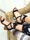 New Women's Ankle Wrap Stacked Block Heel Sandal sandals