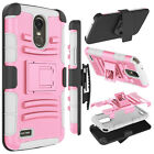 For LG Stylo 3/Stylo 3 Plus Case Belt Clip Holster Hybrid Armor Kickstand Cover