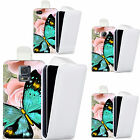 faux leather case cover for majority Mobile phones - heavenly butterfly flip