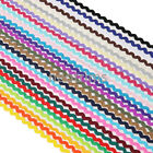 6mm Rik Rak Ric Rac S Bend Zig Zag Trim Ribbon Trimming Braid,15Yards,Neotrims