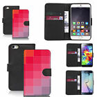 Black pu leather wallet case cover for most mobiles - convex