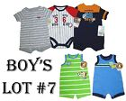 Lot Creeper Romper 5 Boys Sports Theme Summer Outfit Baby Clothes NB 0-3M Daddys