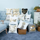 18'' PINEAPPLE LOVE BRONZING THROW PILLOW CASE HOME DECOR CUSHION COVER GLAMOUR