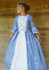 Modest Quality Historical Costume Colonial ~Blue Ball Gown~ Child Size 4 to 14