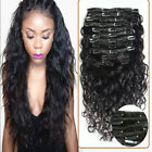 Deep curly 7Pieces Remy Clip In Human Hair Extensions 120G Easy Wear