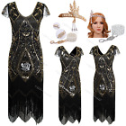 1920s Dress Flapper Vintage Gatsby Party Clubwear Ladies Downton Style Costume